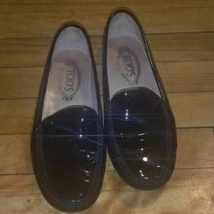 TOD'S Gommino Black Patent Driving Loafers  ✨Great